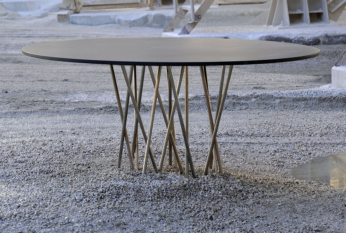 Table de salon contemporaine pour particulier