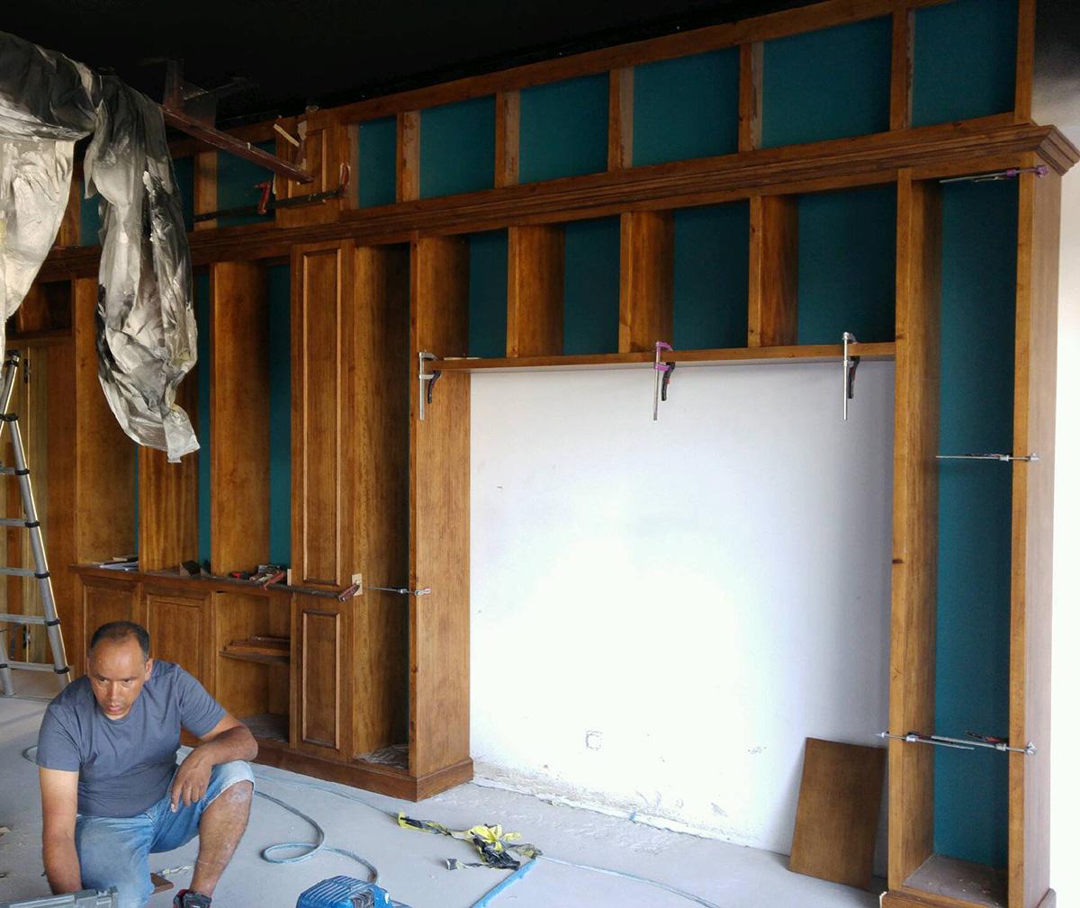 Photo Backstage etagères Solomas Ebeniste