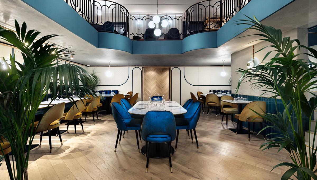Habillage mural – habillage chaises – tables – Crédit photo Studio 614